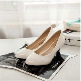 Giày búp bê nữ có gót 169 (Trắng)