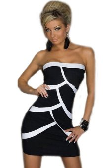 HKS Lady Hot Fish Scale Mini Tee Dress Tight Party Evening G-string Black - intl