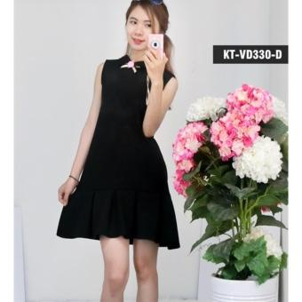 Đầm đuôi cá đính hoa (đen)