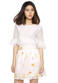 Bộ áo chân váy hoa bách hợp dv2402