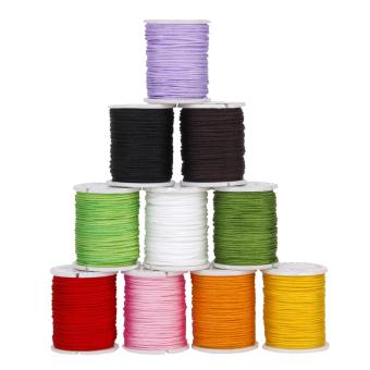 Nylon Beading Thread String Multicolor Set of 10 - Intl