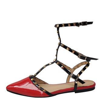Giày xăng đan tán đinh meGirl Shoes 92112 (Đỏ)