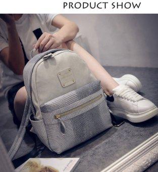 Snake Letter Embellishment Dual Purposes Backpack Women(Light gray) - intl