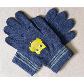 Găng tay cotton in hình cú ngộ nghĩnh