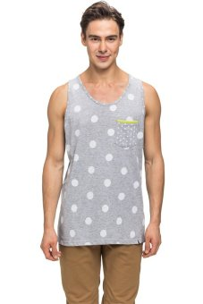 Bellfield Men's Polka Dot Vest Grey