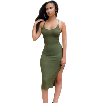 Women Sleeveless Bandage Bodycon Slim Evening Cocktail Party Club Dress M - intl