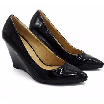 Giày cao gót đen bóng Pierre Cardin SB058-BLACK