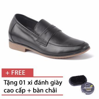 Giày lười tăng chiều cao SMARTMEN GL-223 (Đen) + Tặng 1 hộp xi đen và 1 bàn chải