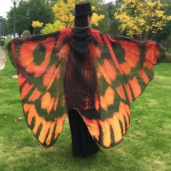 Butterfly Wing Cape Scarf(Multicolor) - intl