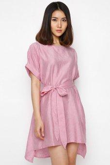 Đầm kimono tay liền thắt nơ Hoàng Khanh HK 235 (Hồng)