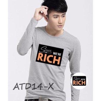 Áo thun nam dài tay cổ tròn Ồ Giá Rẻ ATD14-X (Xám)