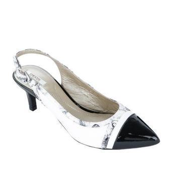 Giày Cao Gót D ELINA B (Trắng/ Đen)