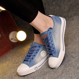 Giày thể thao nữ vải jean xanh nhạt TT128