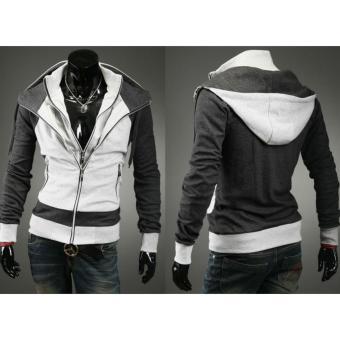 Áo khoác nam 2 dây kéo Thời trang giá gốc (Trắng)
