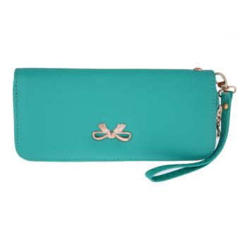 Fashion Women Leather Clutch Wallet Green - intl