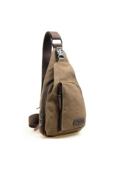 Men's Military Shoulder Bag Coffee - intl