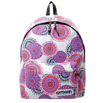 Girl Canvas Backpack Rucksack Travel Satchel Shoulder School Bag(red) - intl