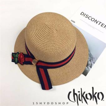Nón nữ thời trang cao cấp hoa hồng CHIKOKO (Màu đậm)