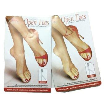 Bộ 2 quần tất Thái Lan xỏ ngón Open Toes (Da)