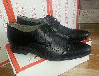 Giày tăng chiều cao nam TT 08 cao 6.5cm (Đen)