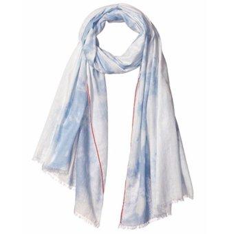 Khăn choàng xanh nữ Steve Madden Women's Tye Dye Denim Wrap (Mỹ)