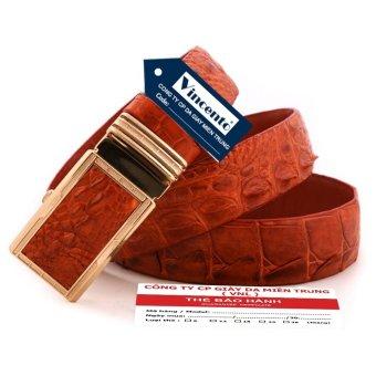 Dây thắt lưng da cá sấu nam Da Thật chính hãng- Loại đặc biệt Giày Da Miền Trung VCTDLCS0LZD22NB (Nâu bò đầu vàng)