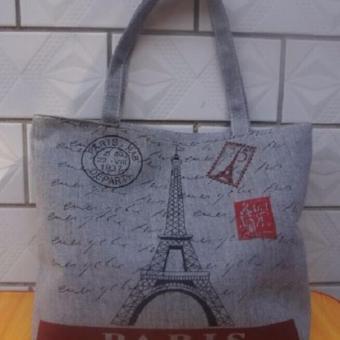 Túi Vải Tote Họa Tiết Paris Part Xinh Store