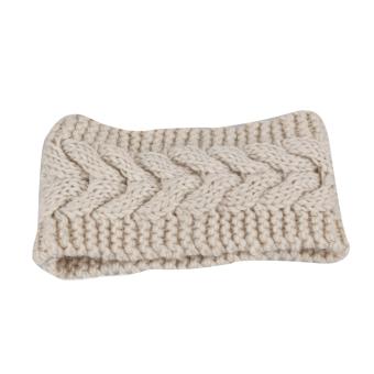 Fancyqube Women Ear Warmer Headwrap Headband Beige
