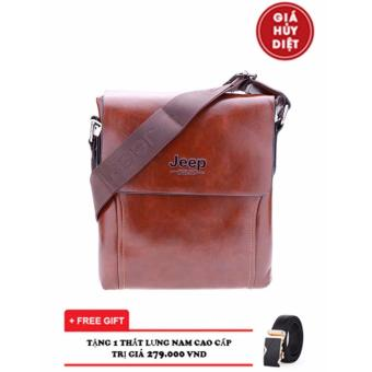 Túi da đeo chéo đựng Ipad JEEP Buluo CN8803-1 (Nâu)