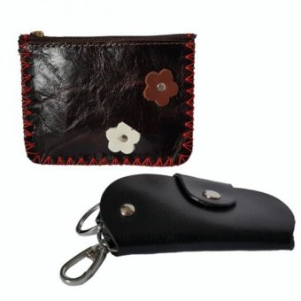 Bộ ví bóp móc khóa và bóp da mini