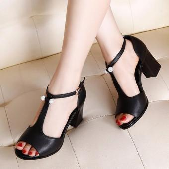 Giày Cao Gót Nữ Da Đính Hạt - LN1223 - Đen