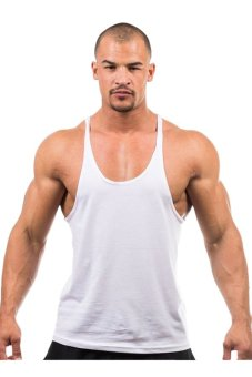 LALANG Fitness Sports Vest Tank Top T-Shirts(White) - Intl
