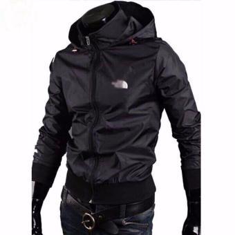 Áo hoodie nam - áo dù nam-áo khoác dù nam- áo khoác dù nam giá rẻ- nam 2 lớp thái (đen)