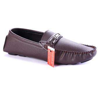 Giày lười nam da cao cấp Nâu chính hãng Da giày Việt Nam VNLMO3A38N-1 ( Màu Nâu )