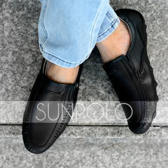 Giày Mọi Da Bò SunPoLo SCN86DRN (Đen)