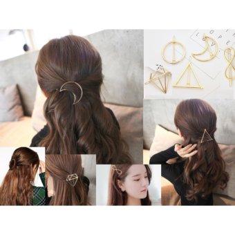 Kẹp tóc MK (Hàn Quốc) bằng hợp kim mạ vàng xinh xắn cho các bạn gái (Hình tròn)