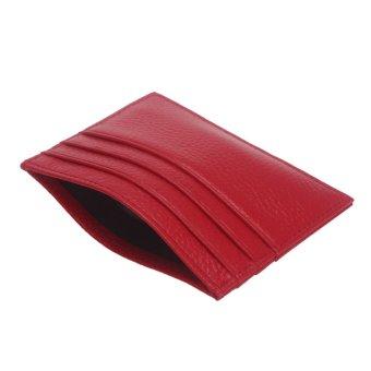 Slim Credit Card Holder Red