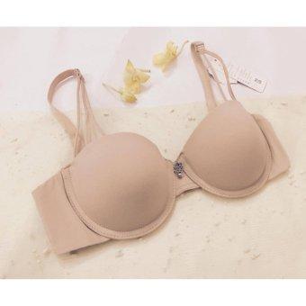 Bộ 2 áo lót nữ ôm ngực cúp ngang 3 dây Hàn Quốc CND103 (da)