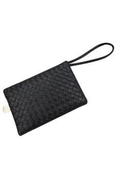 Bluelans Women's Faux Leather Embossing Clutch Evening Bag Purse Black (Intl)