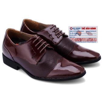 HL7181 - Giày tăng chiều cao Huy Hoàng màu nâu đất