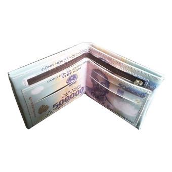 Bóp ví da in hình tiền 500 VNĐ