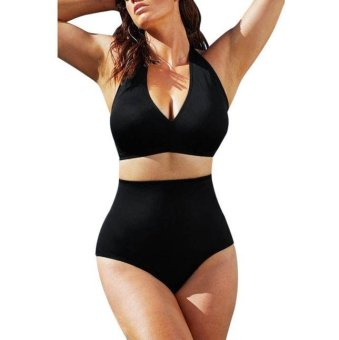 Women One Piece Swimsuit Push Up Padded Bikini Swimwear Bathing Monokini - intl