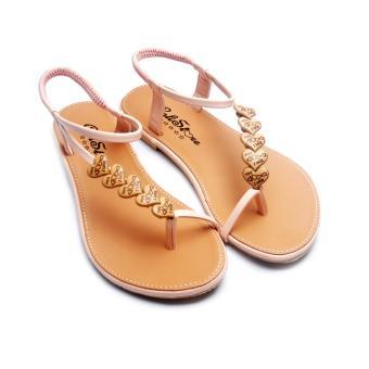 Giày xăng đan Lopez Cute D118 (Nâu Hồng)
