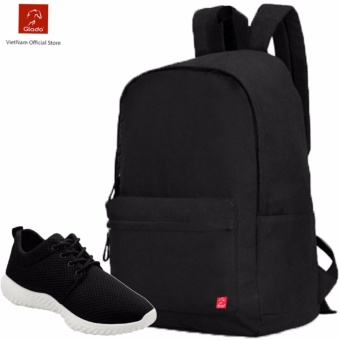 Combo Balo Cylinder Laptop BLL002BA + Giày Sneaker GS062BA (Đen) - CB019