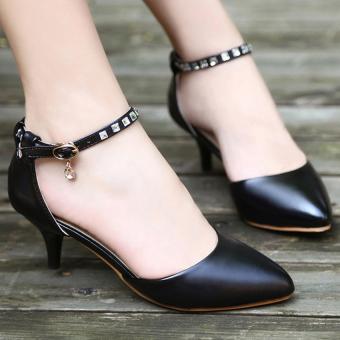 Giày cao gót quai đá CG155 (Đen)