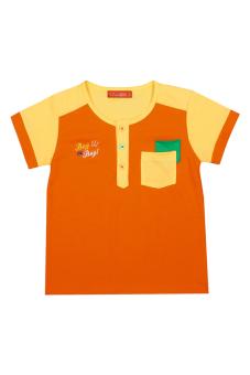 Áo thun bé trai tay ngắn V.T.A.Kids BT41104CV (Cam phối vàng)
