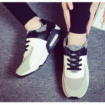 Giày Sneaker Thời Trang Nữ Sodoha SGP35X68B (Xám Phối Đen)