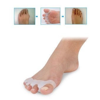 niceEshop 2pairs Silicone Toe Separator Toe Stretcher For Bunion Pain Relief Toe Straightener Hammer Toes - intl