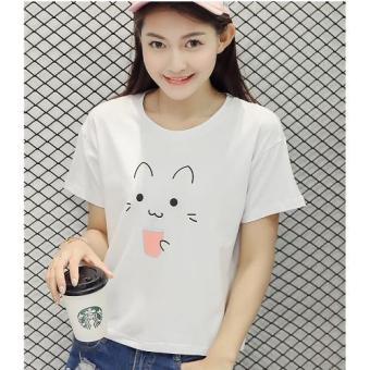 Áo thun in họa tiết mèo xinh xắn D85 Trần Doanh