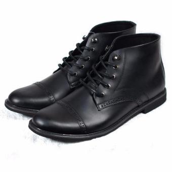 Boots thắt dây đục lỗ Tathanium Footwear TFBKP8800 (Đen)